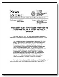 President Bush Announces Intention to No... by Sherman, Andrew Magoun