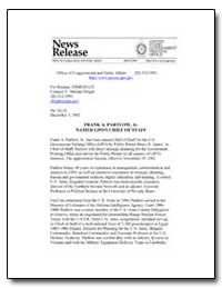 Frank A. Partlow, Jr. Named Gpo's Chief ... by Bright, C. Michael