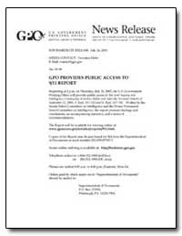 Gpo Provides Public Access to 9/11 Repor... by Meter, Veronica