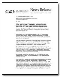 Top Notch Attorney Joins Gpo's Office of... by Sherman, Andrew Magoun