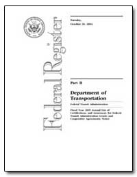 Department of Transportation Federal Tra... by Dorn, Jennifer L.