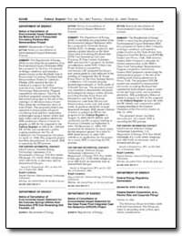 Department of Energy Notice of Cancellat... by Carabetta, Ralph