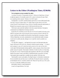 Letters to the Editor (Washington Times,... by Garwin, Richard L.