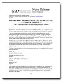 Government Printing Office to Begin Test... by Meter, Veronica