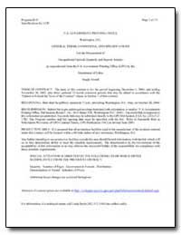 General Terms, Conditions, And Specifica... by