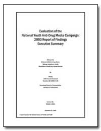 Evaluation of the National Youth Anti-Dr... by Hornik, Robert