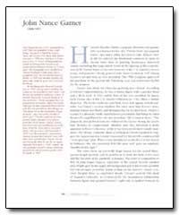 John Nance Garner by Garner, John Nance