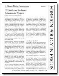 Un Small Arms Conference: Evaluation and... by Gabelnick, Tamar