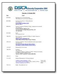 Dsca Security Cooperation 2004 by Kohler, Gen. Jeffrey B.