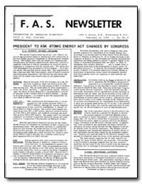 President to Ask Atomic Energy Act Chang... by Hill, David L.