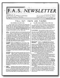 Fall-Out : Facts and Figures by Livingston, M. Stanley
