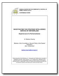 Investigating the Strategic Intelligence... by Haering, Barbara