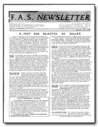 H-Test Ban Rejected by Dulles by Hughes, Donald J.