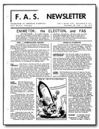 Eniwetok, The Election, And Fas by Halpern, Jules