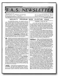 Security Program Made Election Issue by Livingston, M. Stanley