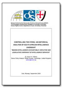 Controlling the Hydra : An Historical An... by O'Brien, Kevin A.