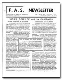Visas, Science, And the Campaign by Halpern, Jules