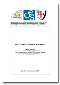 Intelligence Oversight in Norway by
