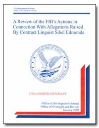 A Review of the Fbi's Actions in Connect... by Mccraw, Steven C.