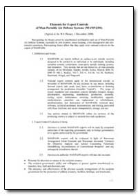 Elements for Export Controls of Man-Port... by