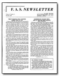 Treaty Banning Space Weapons Agreed Upon... by F. A. S. Newsletter