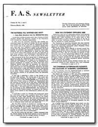 The National Fas: Whither and Why by F. A. S. Newsletter