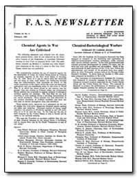 Chemical-Bacteriological Warfare by Kolko, Gabriel