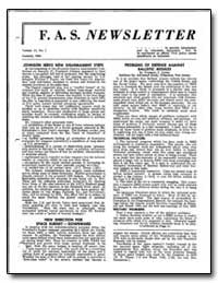 Johnson Seeks New Disarmament Steps by Dyson, Freeman J.