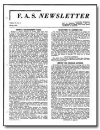 Geneva Disarmament Talks by Foster, William C.