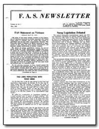 Fas Statement on Vietnam by Higinbmtham, W. A.