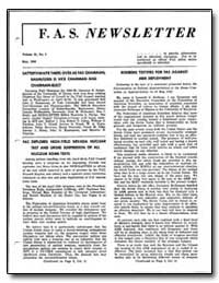 Satterthwaite Takes Over as Fas Chairman... by Rodberg, Leonard S.