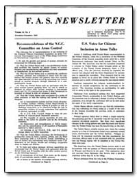 Recommendations of the N.C.C. Committee ... by