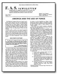 America and the Use of Force by Faik, Richard A.