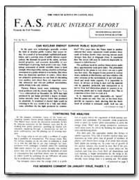 Can Nuclear Energy Survive Public Scruti... by Morrison, L. Philip