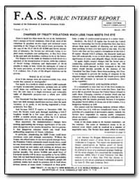 Charges of Treaty Violations : Much Less... by Von Hippel, Frank