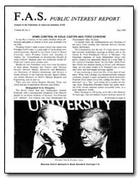 Arms Control in Exile : Carter and Ford ... by Holdren, John P.