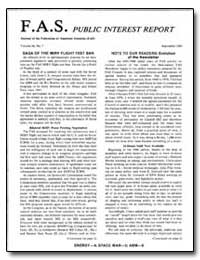 Fas Public Interest Report Journal of th... by Von Hippel, Frank