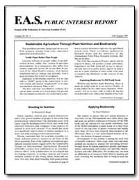 Fas Public Interest Report Journal of th... by Bouis, Howarth E.