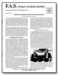 Fas Public Interest Report Journal of th... by Albright, David