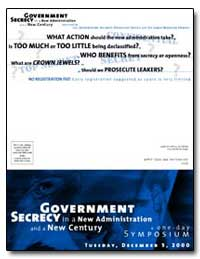 Government Secrecy in a New Administrati... by Podesta, Honorable John D.