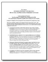 Fact Sheet Attorney General's Guidelines... by