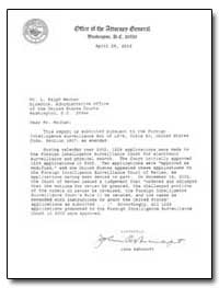 Dear Mr. Mecham : This Report Is Submitt... by Ashcroft, John, Attorney General