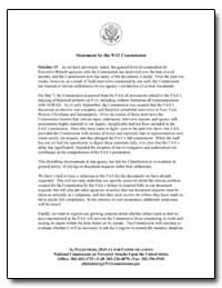 Statement by the 9-11 Commission by