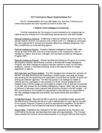 A9/11 Commission Report Implementation A... by