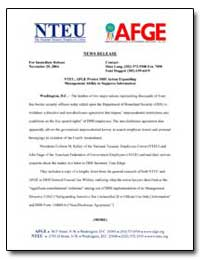 Nteu, Afge Protest Dhs Action Expanding ... by Long, Dina