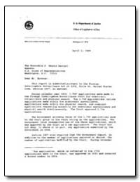 This Report Is Submitted Pursuant to the... by Moschella, William E.