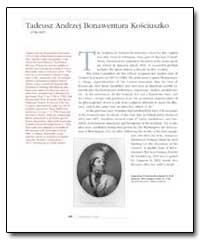 Tadeusz Andrzej Bonawentura Kosciuszko by Kosciuszko, Tadeusz