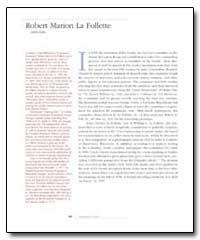 Robert Marion la Follette Robert Marion ... by