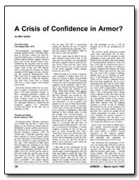 A Crisis of Confidence in Armor by Sparks, Mike