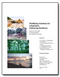 Mobilizing Solutions for Adaptation : En... by Sewell, Granville